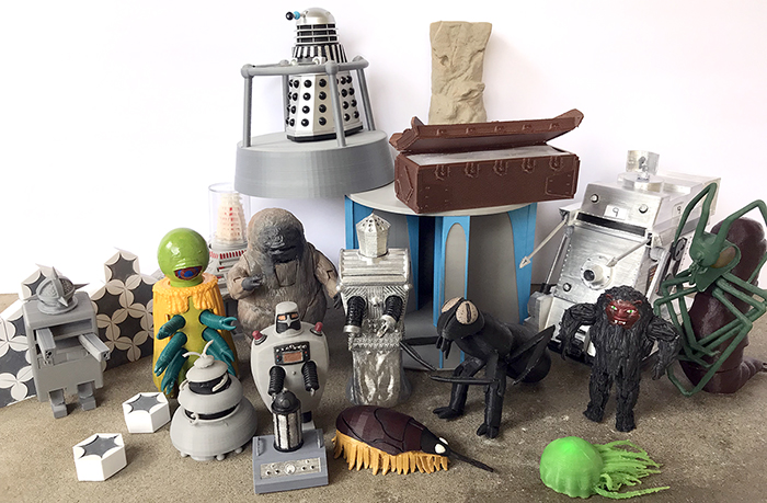 3D Printed Doctor Who Toys